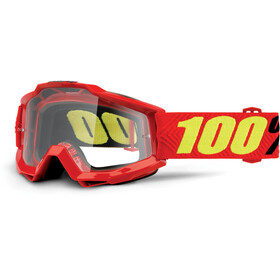 100% Accuri Anti Fog Clear goggles rood